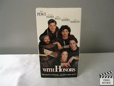 WITH HONORS (VHS, 1994) Joe Pesci Brendan Fraser Mora Kelly Patrick Dempsey