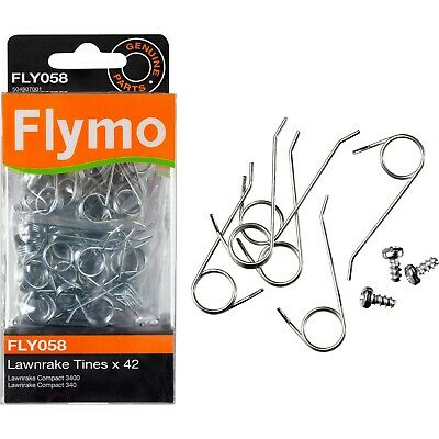 Genuine Flymo Part FLY058 Pack of 42 Replacement Lawnrake Compact Metal Tines