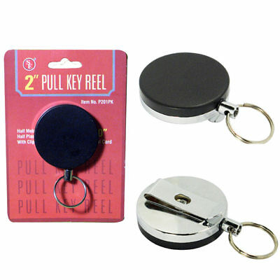 Heavy Duty Retractable Reel Badge Id Holder Belt Clip Nurse Clip Name Card Key !
