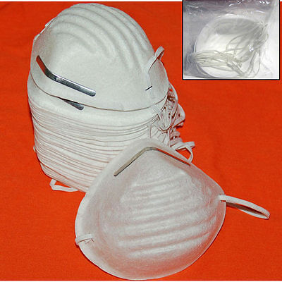 50 Dust Face Mask Filter Mouth Disposable Medical Safety Respirator Antidust New