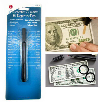 Smart Money Counterfeit Detector Tester Marker Pen Use On Fake Bills Checker !