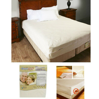 Queen Size Zippered Mattress Cover Protector Dust Bug Allergy Waterproof New !