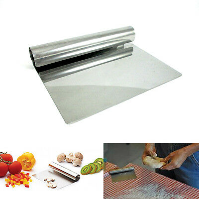"""6"""" Stainless Steel Chopper Dough Scraper Cutter Pastry Kitchen Blade Cake Tool !"""