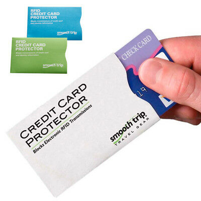 RFID Credit Card Protector Protects Identity Data Theft Sleeves Blocking Secure