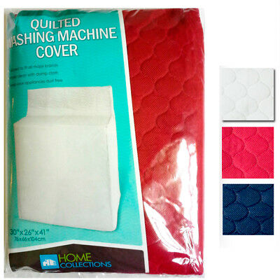 """Quilted Fabric Washing Machine Cover Dust Free Appliance Cover Colors 30""""x26""""x41"""