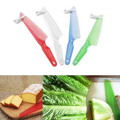 Lettuce Knife 1 Pc Plastic Serrated Fresh Cut Bread Salad Cake Blade Chopper 7""