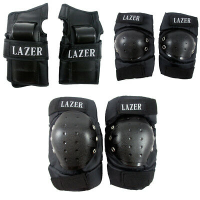 4 Knee Elbow Protective Pad Protector Gear Sports Tactical Black Skate Rollers