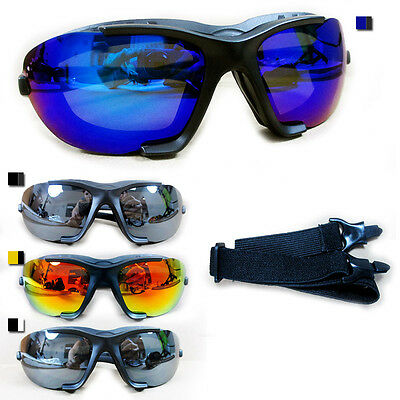1 Pair Chopper Padded Wind Resistant Sunglasses Motorcycle Rinding Glasses Sport