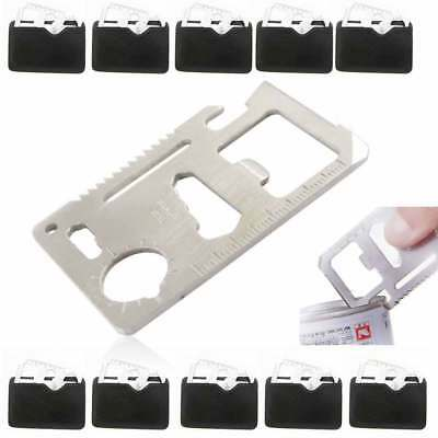 10 Multi Tools Hunting Survival Camping Pocket Outdoor Credit Card Knife 11 In 1
