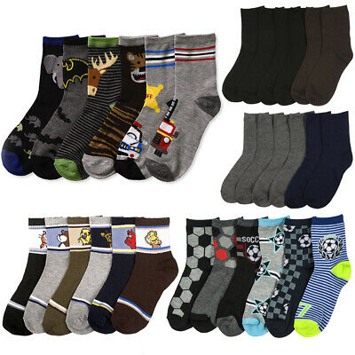 12 Pairs Assorted Kids Socks Size Ages 2-3 Years Animal Print Boys 2T 3T Toddler