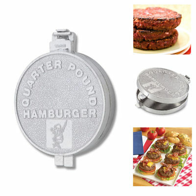 Hamburger Patty Mold Burger Maker Press Quarter Pound Uniform Round Patties Mold