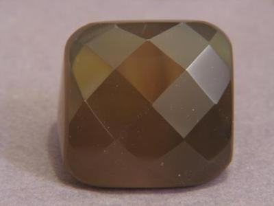 Ring Gray Agate 28-35mm Facet Square SZ 8.25 8450