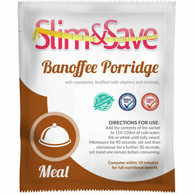 Slim And Save ® VLCD Diet Meal Replacement Breakfast Banoffee Porridge -NE-1BNFP