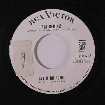 GEMINIS: Get It On Home / No More Tomorrow 45 (dj, tol) Soul