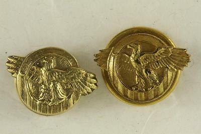 Vintage Lot 2 Brass US Military Corps WWII Veteran RUPTURED DUCK Lapel Buttons