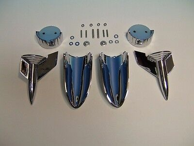 57 Chevy Hood Rocket Assemblies, 1957 -NEW-