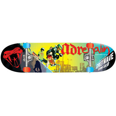 "ADRENALIN STREET WAVE SKATEBOARD 31""x 8"" - CREATED SPECIALLY FOR KIDS"