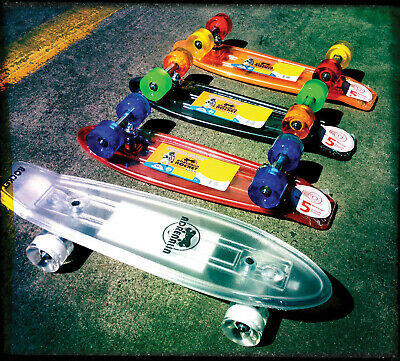 "ADRENALIN ROCKET OLD SCHOOL SKATIE 21"" x 6"" - NO ORDINARY PLASTIC DECK"