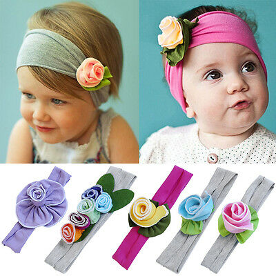 Baby Girls Cute Infant Toddler Kids Headband Bow Flower Hair Band Headwear NEW