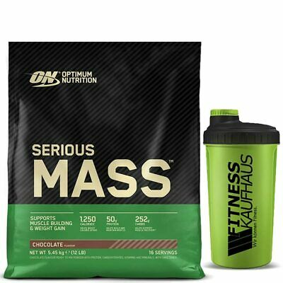 Optimum Nutrition Serious Mass 5450g Weight Gainer + Shaker