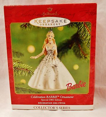 2001 Hallmark Celebration Barbie Ornament Special Edition Collectible Free Ship