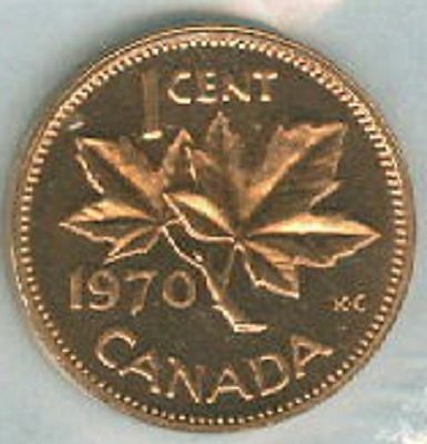 1970-PL Proof-Like Penny 1 One Cent '70 Canada/Canadian BU Coin UNC