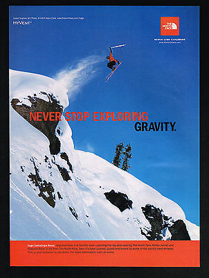 2003 North Face Clothes Snow Skier Sage Cattabriga Alosa Photo Print Ad