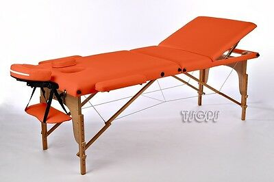 Portable Massage Table Reiki Couch 3-Section Orange