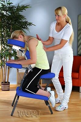FOLDABLE PORTABLE MASSAGE CHAIR in BLUE