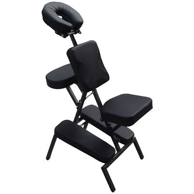 Foldable Portable Massage Chair in BLACK