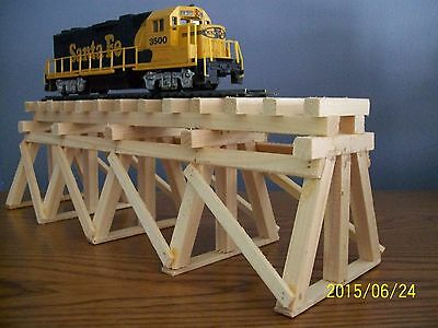 HO Scale WOODEN TRESTLE For Model Railroad Train Layouts - Stainable Paintable