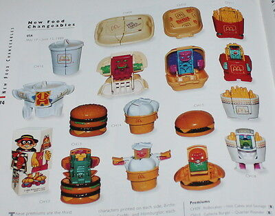 McDonald's MC DONALD'S HAPPY MEAL - 1989 New Food Changeables Pezzi singoli
