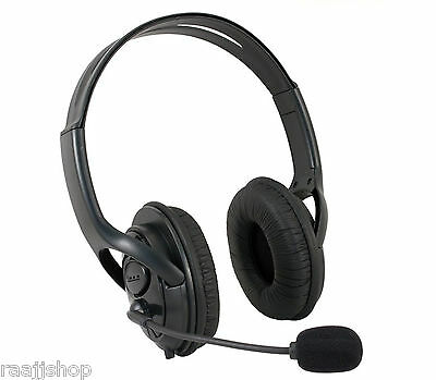 New Black Deluxe Headset Headphone With Microphone For Xbox 360 Controller Live