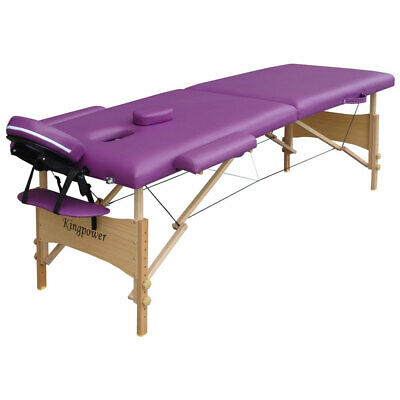 Portable Massage Table Reiki Beauty Couch In Purple