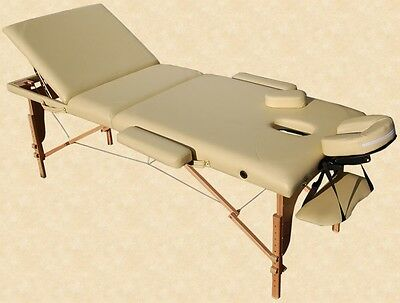 Portable Massage Table Reiki Couch 3-Section Yellow Kingpower