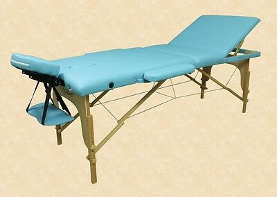 Massage Table 3 Zones Incl. Bag And Accessories Blue Kingpower