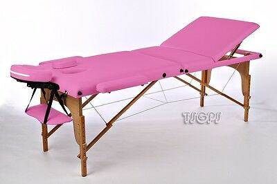 Portable Massage Table Reiki Couch 3-Section Pink