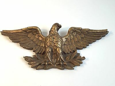 Antique Gilt Gilded 19th Century Circa American Gilt Wood Eagle