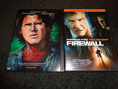 THE MOSQUITO COAST & FIREWALL-2 movies-HARRISON FORD, HELEN MIRREN,RIVER PHOENIX