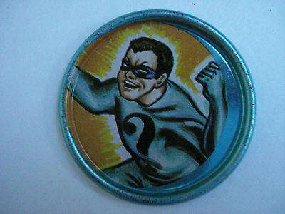 BATMAN SPACE MAGIC METAL COIN No. 13 OF 20 THE RIDDLER  VINTAGE 1966 SERIES 1