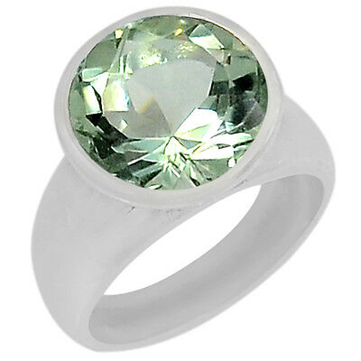 5.6cts Green Amethyst 925 Sterling Silver Ring Jewelry s.6 R5117GA-6