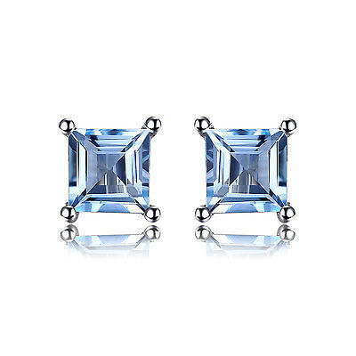 Jewelrypalace 0.7ct Natural Sky Blue Topaz 925 Sterling Silver Stud Earrigs