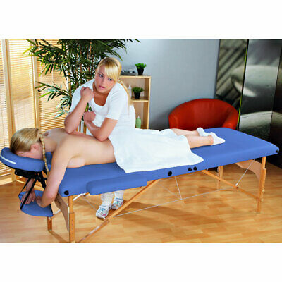 Portable Massage Table Reiki Beauty Couch Navyblue New