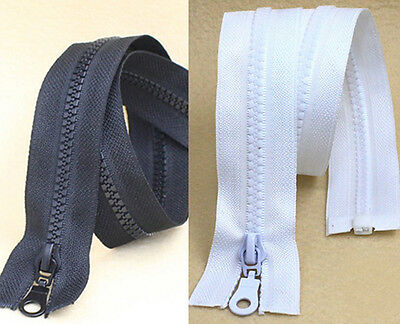 50 CM 60 CM  Black White Resin Zippers for purse or bags manufacture  DIY