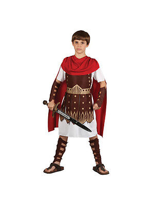 Child Roman Centurion Gladiator Army Soldier Boys Fancy Dress Costume Ages 3-13