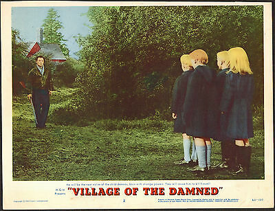 VILLAGE OF THE DAMNED original 1960 lobby card MGM 11x14 movie poster