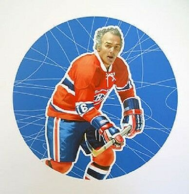 Henri Richard Montreal Canadiens NHL Hockey Stamp Lithos Lithograph Canada Post