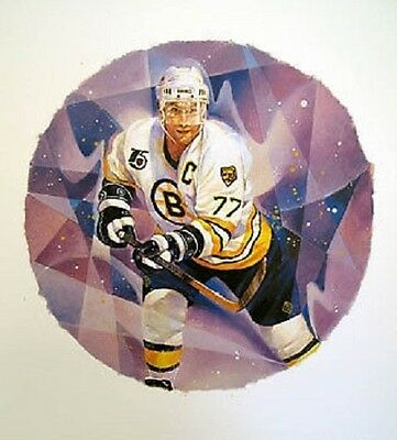 Raymond Bourque Boston Bruins NHL Hockey Stamp Lithos Lithograph Canada Post