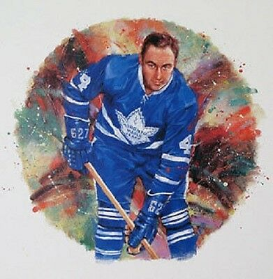 Red Kelly Toronto Maple Leafs NHL Hockey Stamp Lithos Lithograph Canada Post