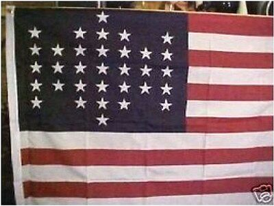 33 Star Us Flag Replica From 1861
